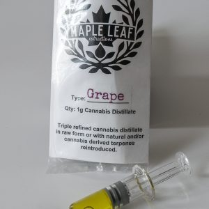 Maple Leaf Extracts grape distillate