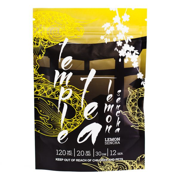 A bag of MOTA Temple Tea (Lemon).
