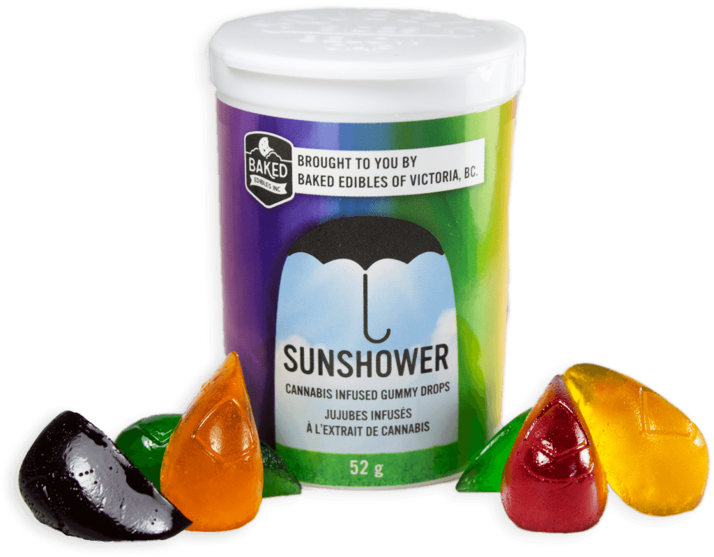 Baked Edibles – Sunshower Gummy Drops