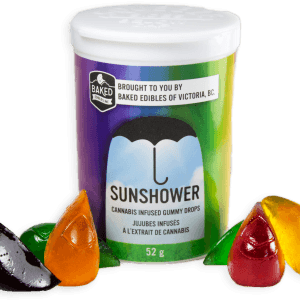 Image of a container of SUNSHOWER Gummy Drops