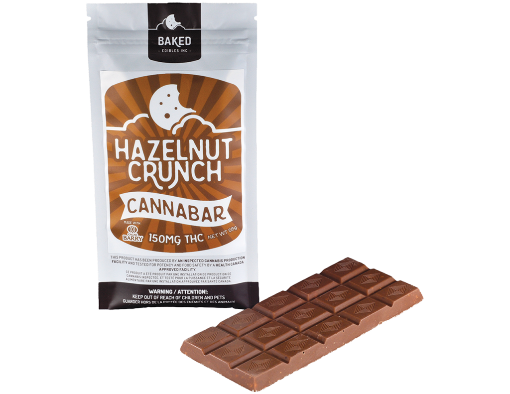 Baked Edibles – Hazelnut Crunch Cannabar
